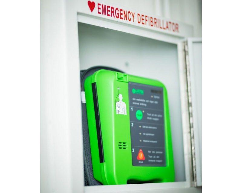 En moderne Hjertestarter AED
